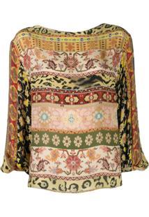 Etro Printed Long-Sleeved Blouse - Amarelo