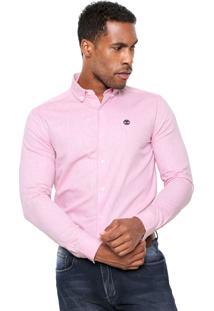 Camisa Timberland Slim Rosa