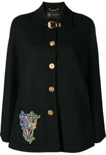 Versace Jaqueta Com Botões - Preto