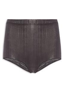 Calcinha Hot Pants Foil - Cinza