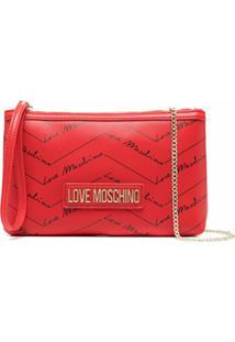 Love Moschino Bolsa Transversal Com Estampa De Logo - Vermelho