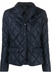 Moncler Quilted Down Jacket - Azul