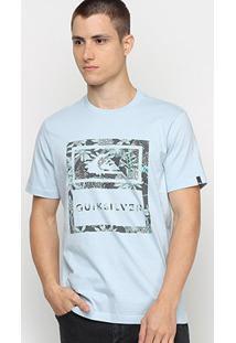 Camiseta Quiksilver Tiger Tracks Masculina - Masculino-Azul Claro