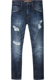 Calça John John Rock Oslo 3D Jeans Azul Masculina (Jeans Escuro, 36)