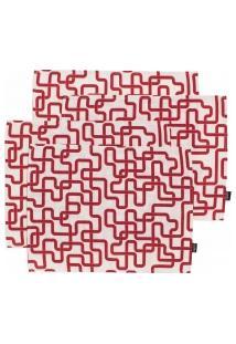Jogo Americano Tube - 4 Peças - Vermelho