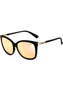 Óculos De Sol Colcci Quadrado C0059A1446 Feminino - Feminino-Preto