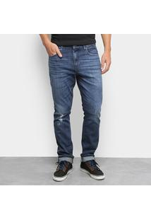 Calça Jeans Skinny Lacoste Estonada Masculina - Masculino