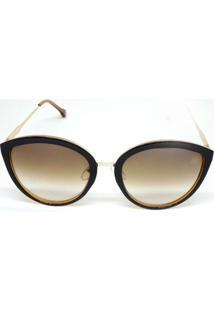 Óculos De Sol Feminino House Winter Glee Marrom - Feminino