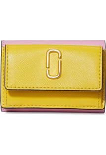 Marc Jacobs Carteira The Snapshot Mini - Amarelo