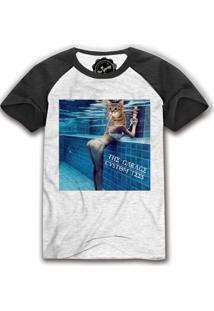 Camiseta Raglan The Garage Custom Tees Pool Ass Cat