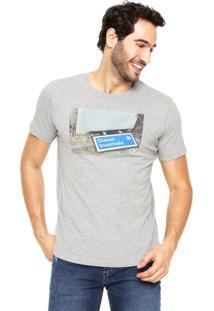 Camiseta Diesel Estampada Cinza