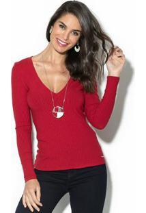 Blusa Canelada Vermelho