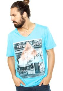 Camiseta Sommer Good Vibes Azul