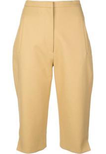 Khaite Short Cintura Alta - Amarelo