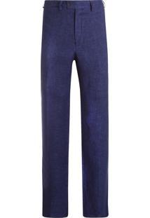 Calça Masculina Formal Linho - Azul