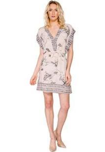 b40ec36fc R$ 320,00. Zattini Vestido Mini Estampado Colcci - Feminino-Bege