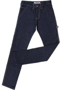 Calça Carpinteira Rodeo Western Masculina - Masculino-Azul Escuro