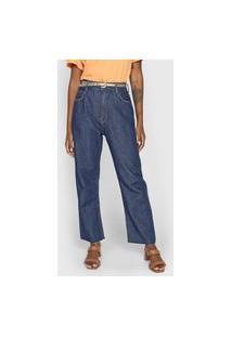 Calça Jeans Forum Mom Tarsila Azul-Marinho