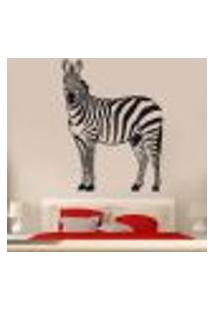 Adesivo De Parede Animais Zebra - Es 120X90Cm