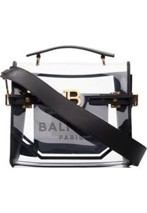 Balmain Bbuzz Transparent Shoulder Bag - Preto