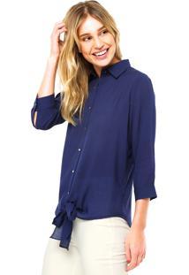 Camisa Manga Longa Fiveblu Pontos Azul-Marinho