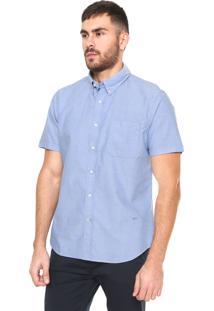 Camisa Richards Oxford Fit Básica Azul