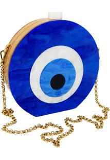 Bolsa La Madame Co Clutch Olho Grego Azul - Kanui