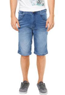 Bermuda Jeans Mcd Walk Denim Glove Azul