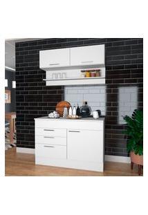 Cozinha Compacta Balcão E Aéreo Nova Mobile Marajó 4 Portas 2 Gavetas