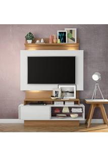 Painel Para Tv Tb111L Com Led Off White/Freijo - Dalla Costa