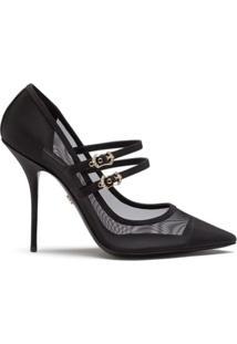 Dolce & Gabbana Scarpin Cardinale Com Detalhe De Mesh - Preto