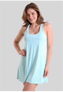 Vestido Praaiah Nadador Com Detalhe Formas Geométricas - Feminino-Azul Turquesa