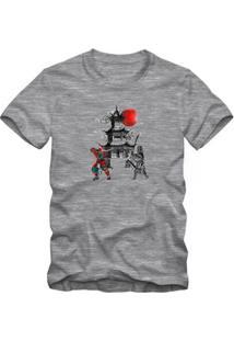Camiseta Milá Samurai Casual Masculina - Masculino-Mescla