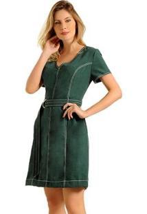 Vestido Estilo K Laura - Feminino-Verde