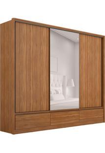 Guarda-Roupa Casal Com Espelho Lounge 3 Pt 7 Gv Amãªndola