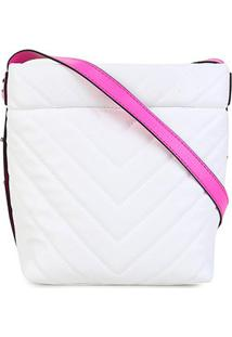 Bolsa Dumond Shoulder Bag Matelassê Feminina - Feminino-Off White