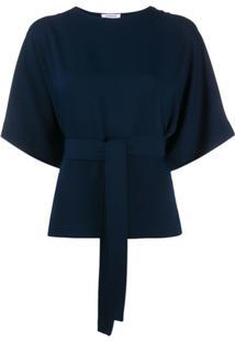 P.A.R.O.S.H. Blusa Com Amarração Na Cintura - Azul