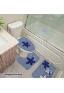 Jogo Para Banheiro Brunei- Azul & Azul Escuro- 3Pçssultan