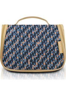 Necessaire De Viagem Jacki Design Zigzag City Azul - Kanui