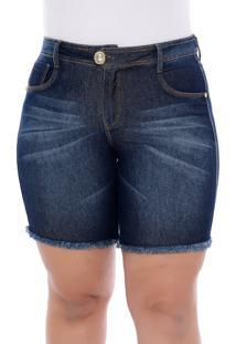Bermuda Jeans Plus Size Azul Arrow-60