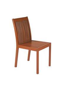 Cadeira Fixa Tramontina 10832/076 Terrazzo Fitt Madeira Marrom