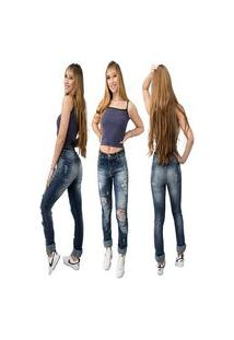 Calça Jeans Feminina Beloved Boyfriend Indigo Original Azul