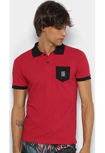 Camisa Polo Rg 518 Piquet Bolso Masculina - Masculino-Vermelho