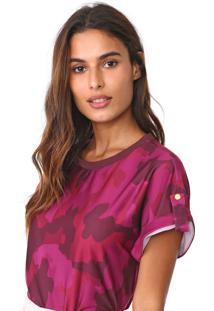 Camiseta Lança Perfume Estampada Roxo/Vinho