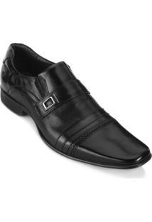 Sapato Rafarillo Fivela Masculino - Masculino-Preto