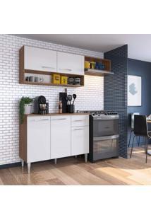 Cozinha Compacta 3 Peças 5 Portas Madri Siena Móveis Teka/Branco
