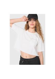 Camiseta Cropped Tricats Desert Off-White
