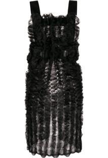 Comme Des Garçons Noir Kei Ninomiya Blusa Oversized Com Transparência - Preto