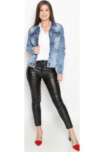 Jaqueta Jeans Estonada- Azul Escuro- Guessguess