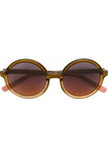 Nk Óculos De Sol Arredondado - Marrom